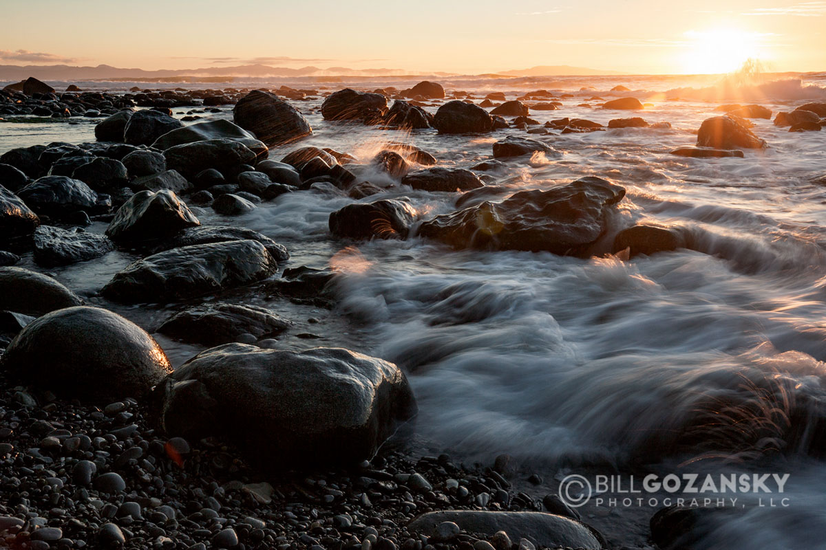 Sunset at Sombrio Beach - Juan de Fuca Provincial Park, Vancouver Island, British Columbia, Canada