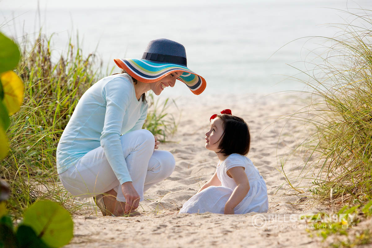 Mother and Daughter at Beach - Lauderdale-by-the-Sea, Florida, USA