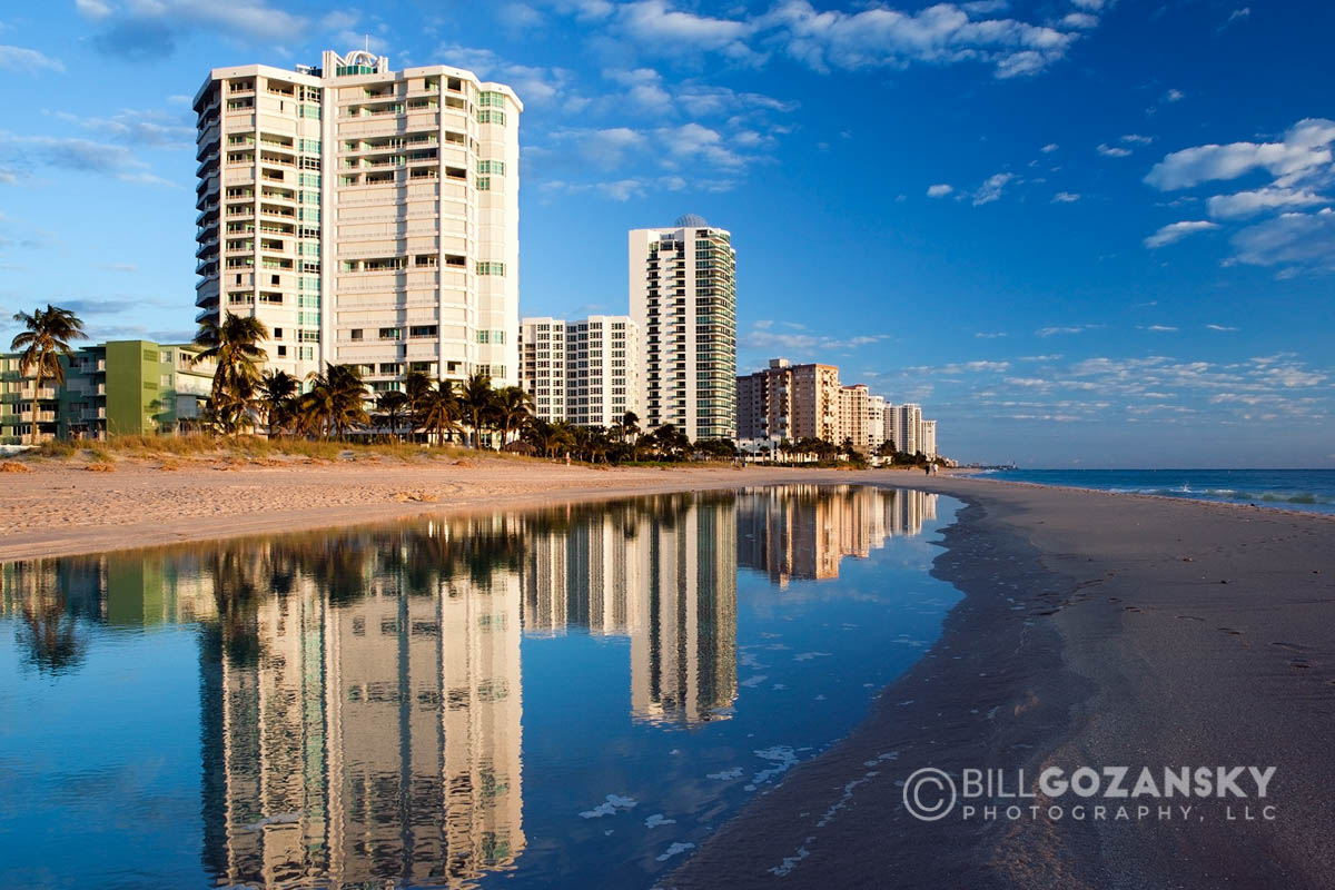Reflections on the Beach - Lauderdale-by-the-Sea, Florida, USA