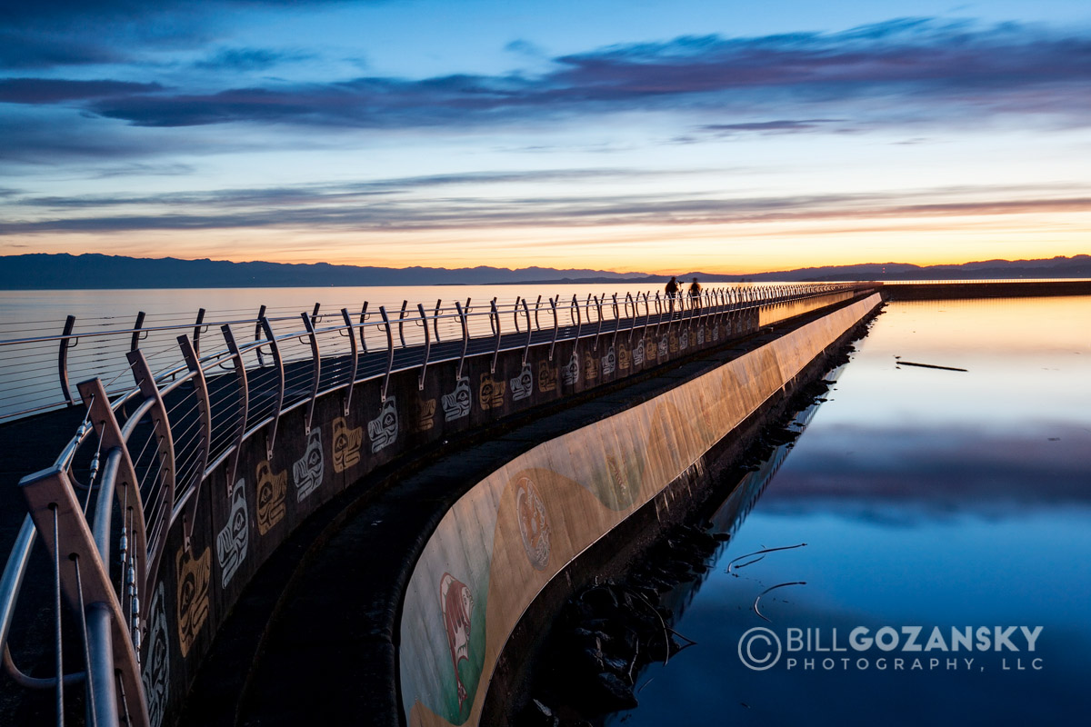 Sunset at the Breakwater at Ogden Point - Victoria, Vancouver Island, British Columbia, Canada