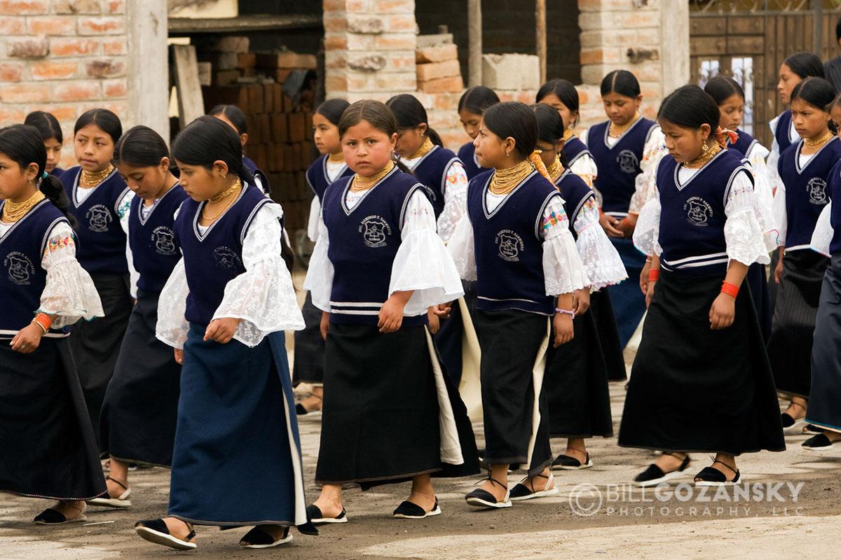 School Procession – Near Otavalo, Ecuador