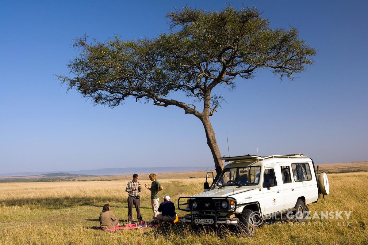 Picnic in the Mara - Masai Mara National Reserve, Kenya, Africa