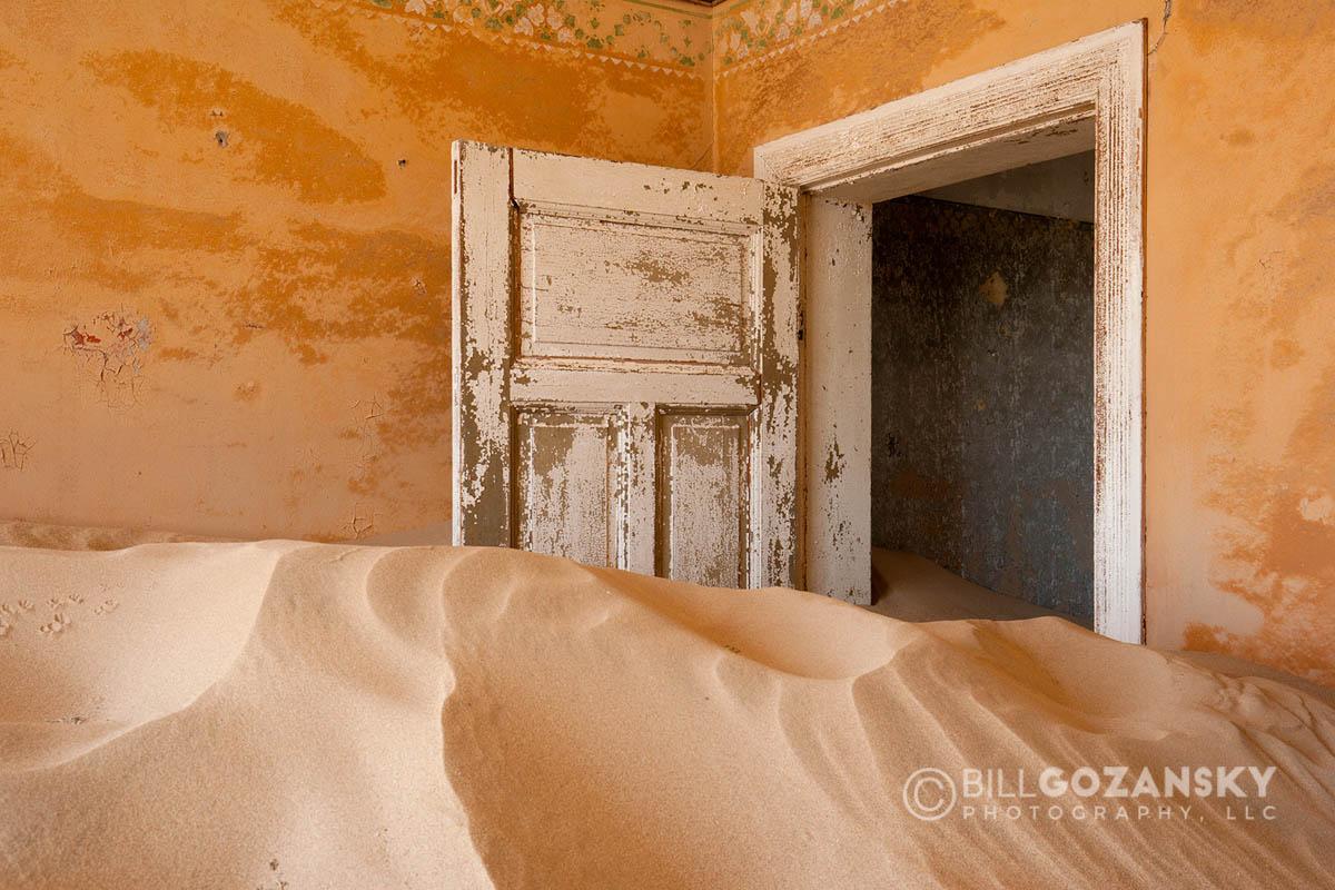 Doorway In Kolmanskop Ghost Town – Luderitz, Namibia, Africa