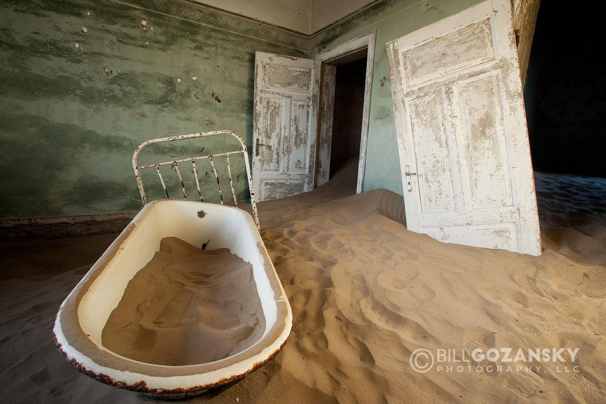 Bathtub In Kolmanskop Ghost Town – Luderitz, Namibia, Africa