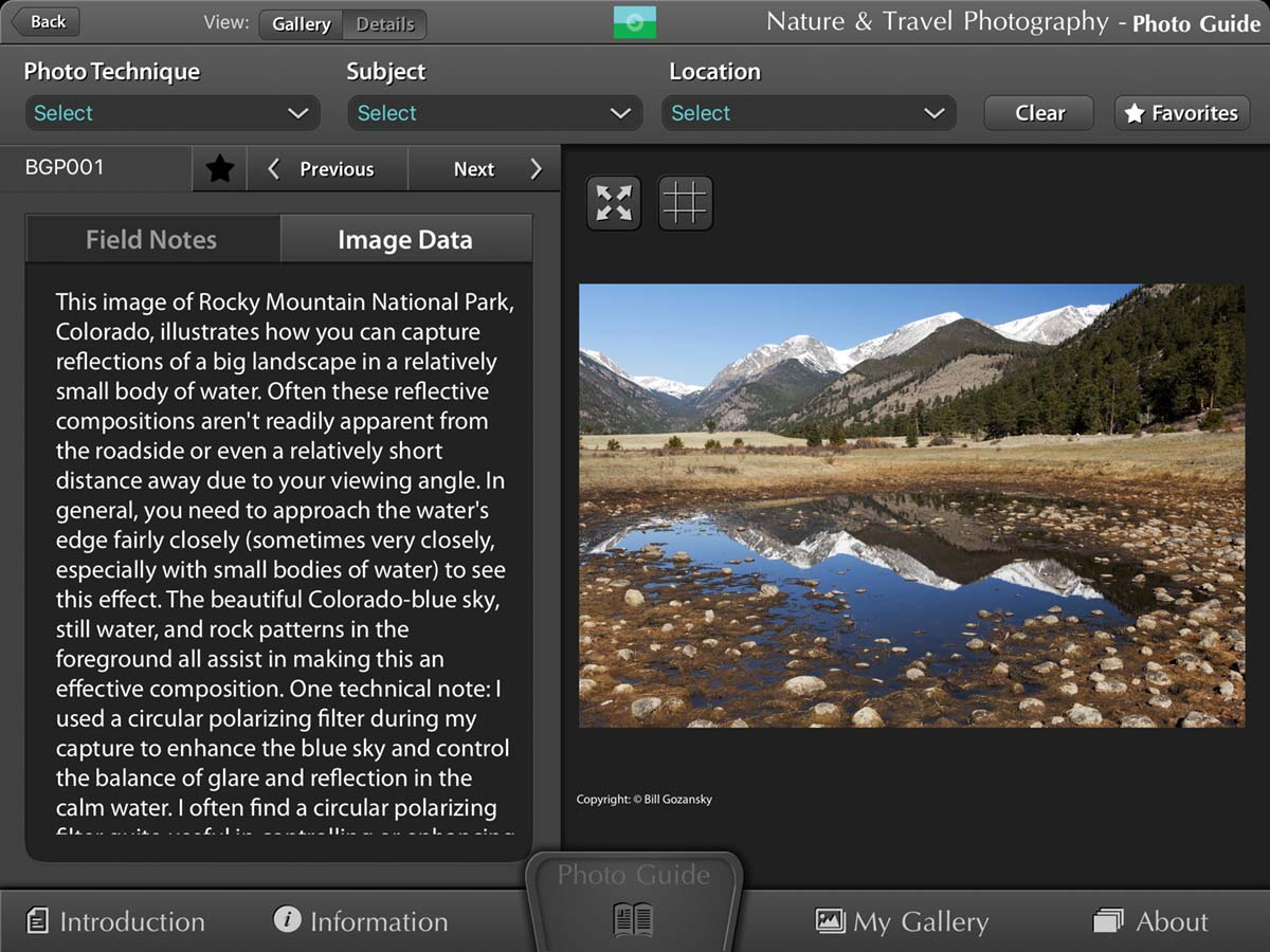 The Images for Conservation Fund Photo Guide to Nature & Travel Photography App: Field Notes